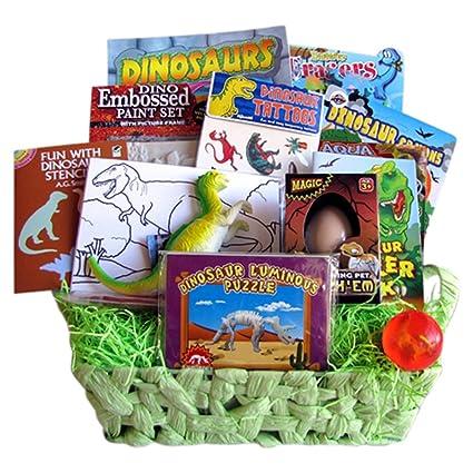 Dinosaur Gift Basket Get Well Gift Baskets For