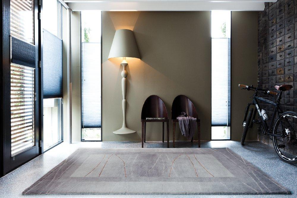 """TEPPICHWELT SONA-LUX Nepal Teppich handgeknüpft silber """"Größe auswählen"""" 140 x 200 cm"""