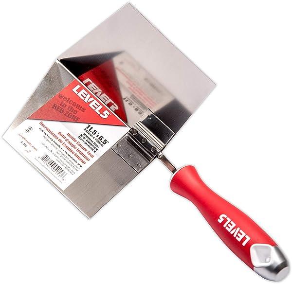 Inside Corner Knife, 6.5x11.5 - LEVEL5   Pro-Grade   Metal Hammer End   Drywall Gyprock Plasterboard Sheetrock  5-312 (Tamaño: 6.5x11.5)