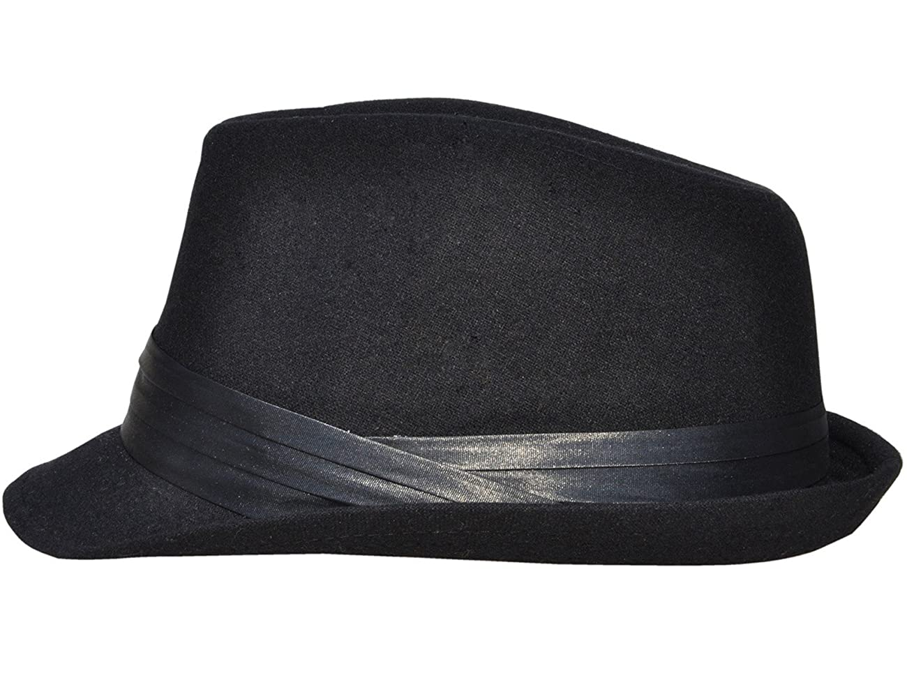 Simplicity Men Women Manhattan Structured Gangster Trilby Wool Fedora Hat 4