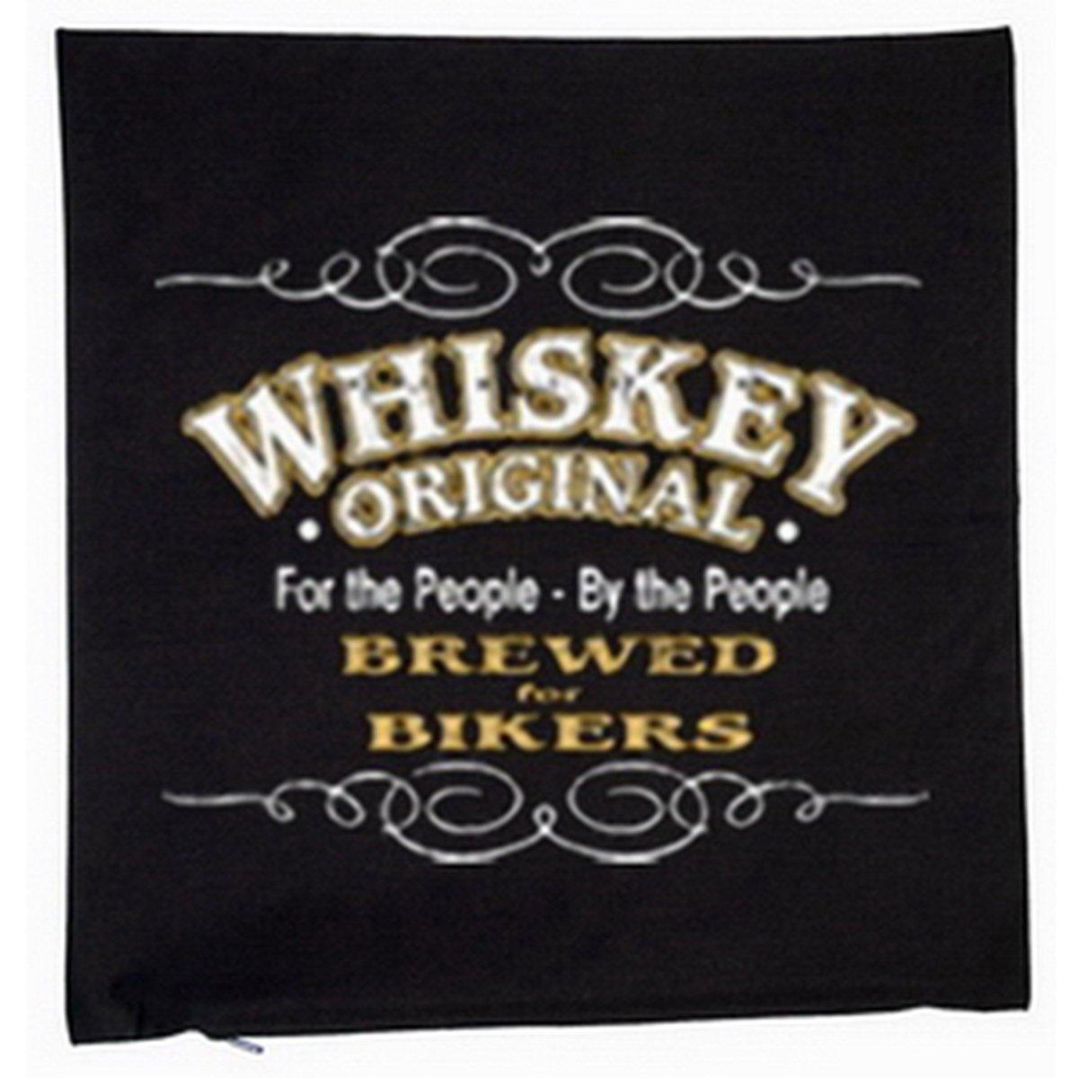 Biker & Motorrad Whiskey Deko Kissen mit Füllung Farbe: schwarz Größe: 40x40cm günstig bestellen