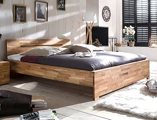 Massivholzbett Savin 180x200 Wildeiche geölt Doppelbett Ehebett Schlafzimmer Holzbett Bett