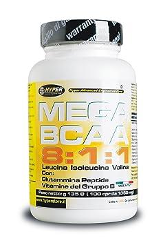 BCAA 8: 1: 1 verzweigtkettigen Aminosäuren mit Glutamin Peptid und B-Vitaminen verstärkt 400 Tafeln 540 gr New Formulierungsverhältnis 8: 1: 1 (8 Leucin, 1 Isoleucin , 1 Valin)