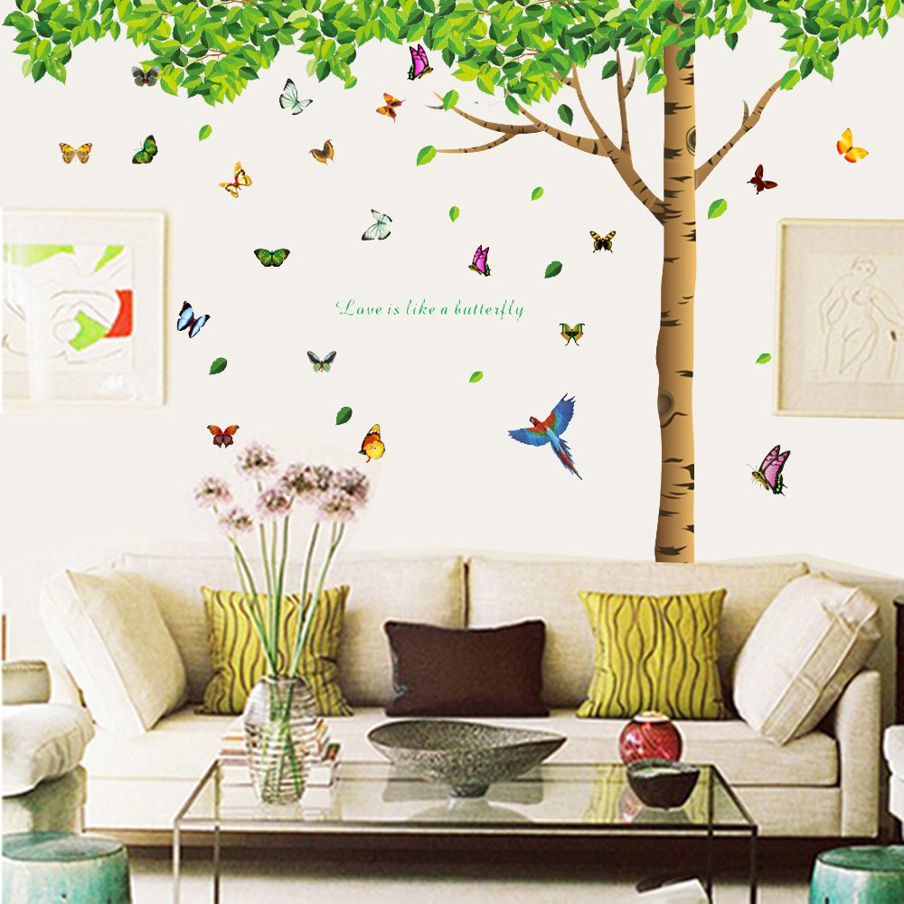 Tree Design Wallpaper Living Room Buy Colorful Decalsac 74h X 97w More Attachments For