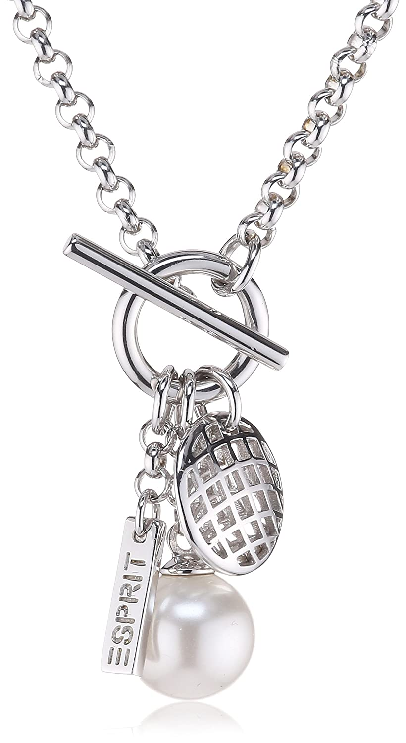 ESPRIT Jewels Damen-Halskette Pearl Lattice 925 Sterling Silber 40 cm S.ESNL92240A400