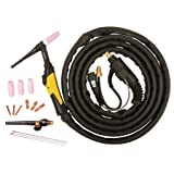 ESAB W4013600 TIG Torch with 8 Pin Hand Remotes Accessory Kit, 26V, 50mm Size, 3.8m Length