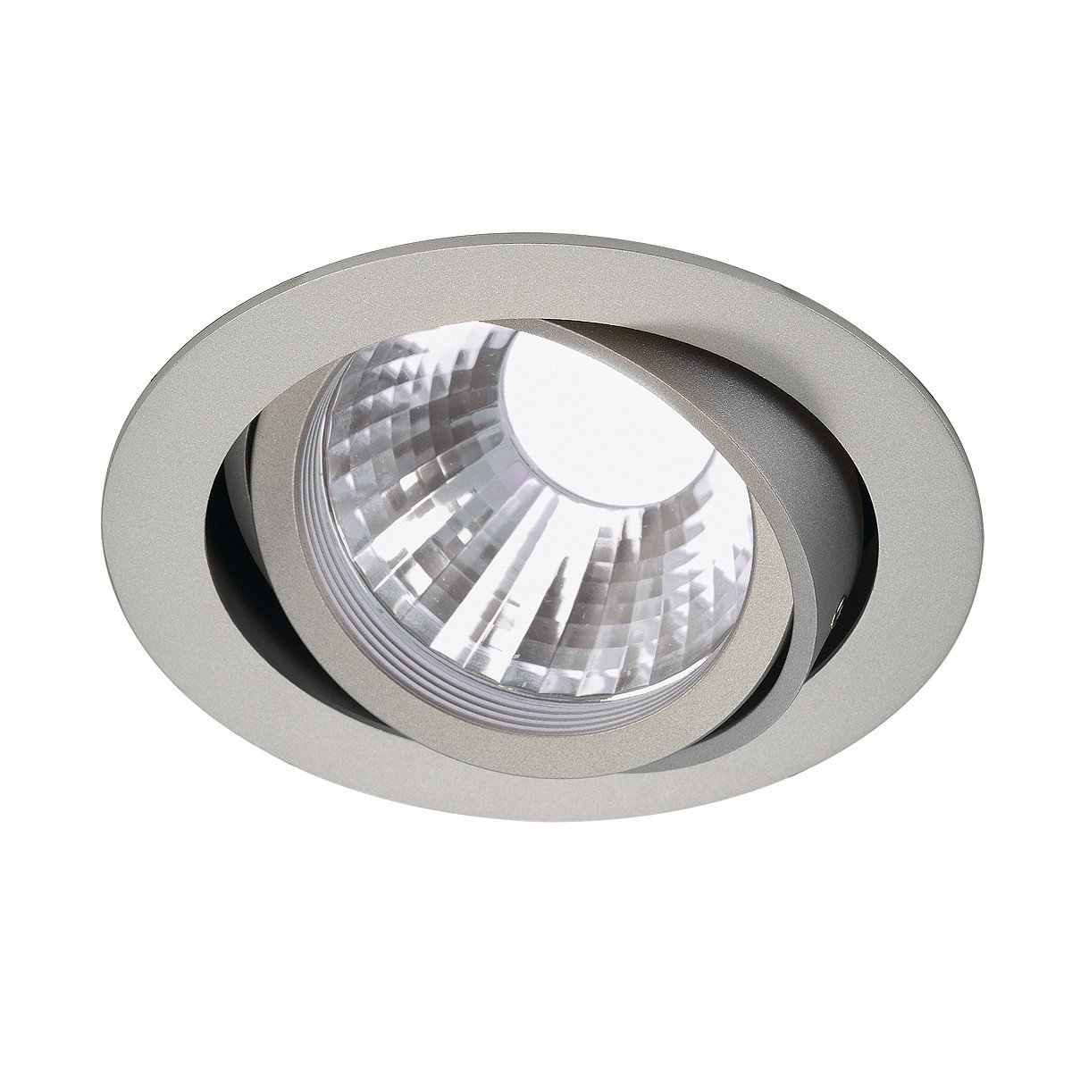 SLV New Tria LED Disk Downlight, Rund, 4000 K, 60 Grad, silbergrau 113574