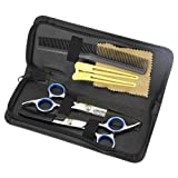 Hair Cutting Shears,Htianc Professional Hair Cutting Shears, Hairdressing Scissors,Barber Scissors Tool Sets With 1Thining scissors,1 Rugular hair cutting shears