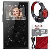 FiiO X1 (2nd Generation) Lossless Music Player (Black) - Basic Accessory Bundle with Headphones + 16GB Memory Card & More (Color: Black, Tamaño: Basic)
