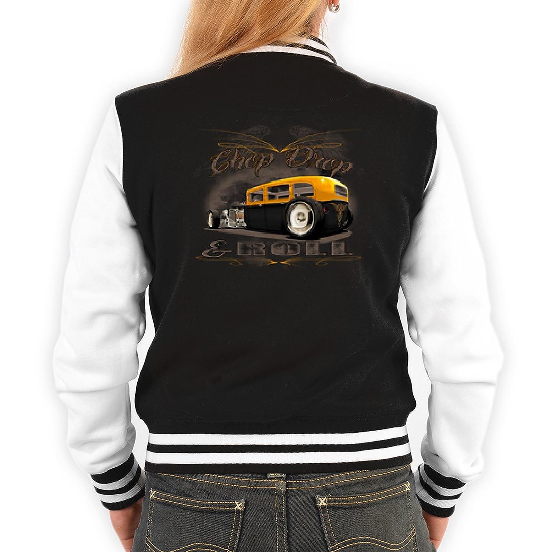 Urban Classic College Jacke für Frauen Chop Drop & Roll Streetwear Style Damenjacke Rockabilly Übergangsjacke Lifestyle online bestellen