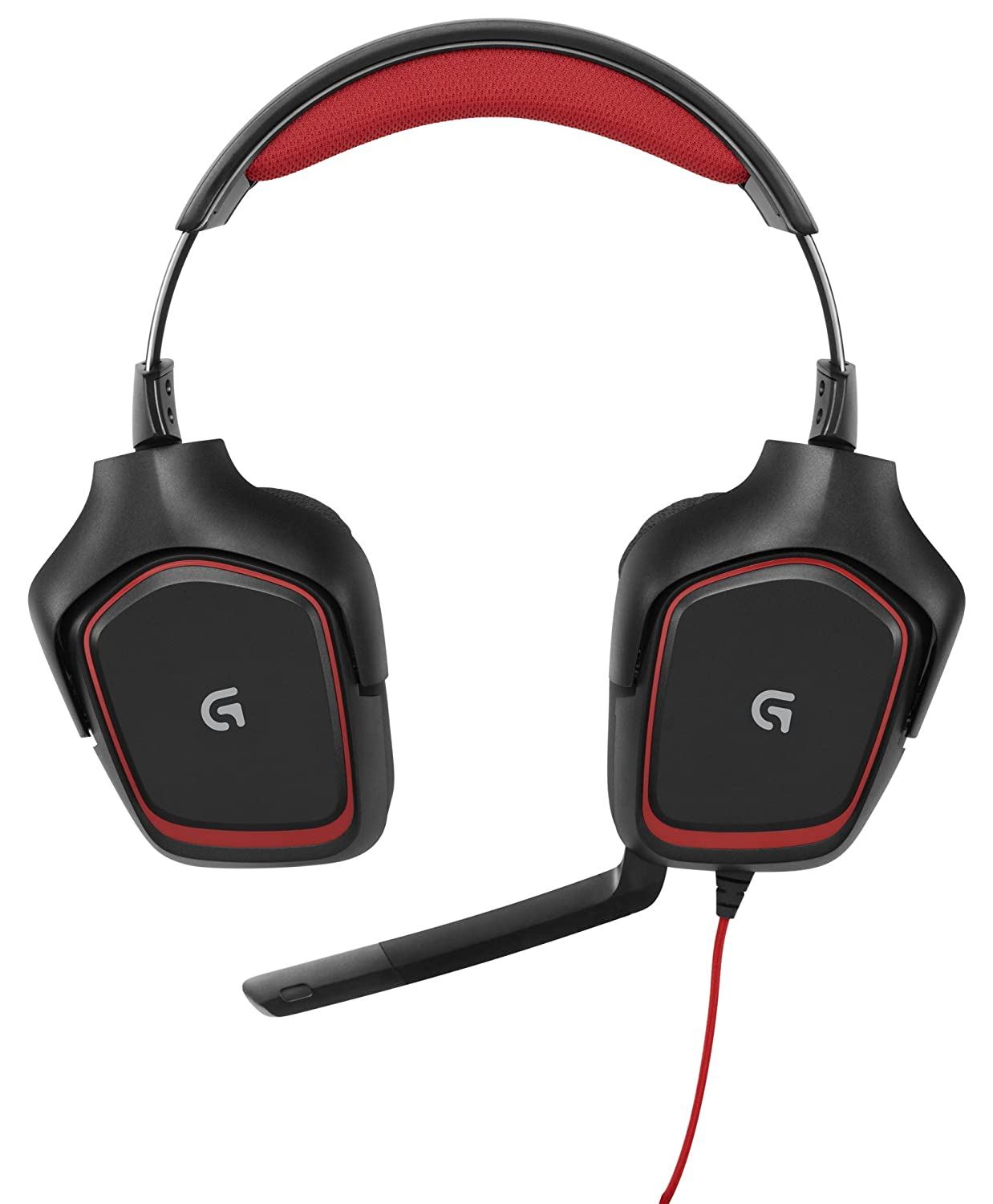 Logitech G230 Gaming Headsets come with rotating ear cups and retractable boom mic