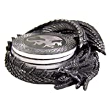 Dragon Coaster Holder With 4 Coaster Set (Color: Charcoal)