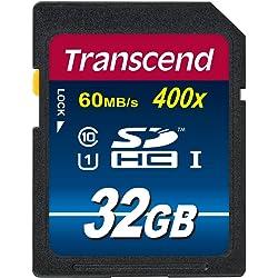 Transcend TS32GSDU1PE 32GB UHS-I Class 10 SDHC Memory Card