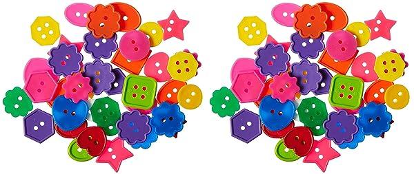Roylco Inc. R2132 Bright Buttons, 1 Pound, Assorted (?w? ???k) (Tamaño: ?w? ???k)