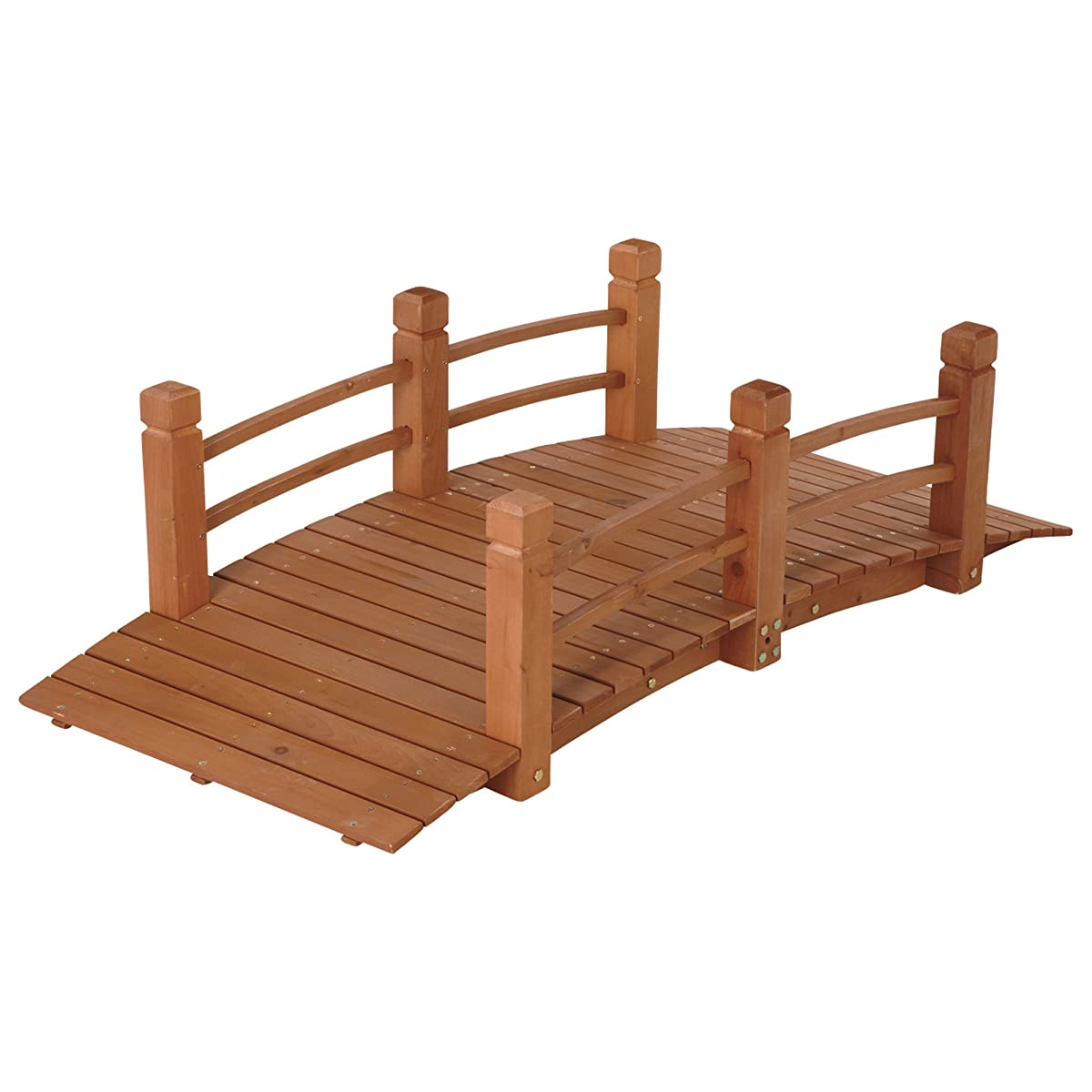 Wooden Garden Bridge, Model# KMG100858-WP