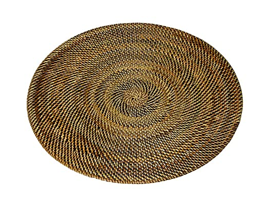 Brown Round Nito Set of 2 Placemats by Kouboo