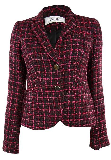 Calvin Klein Aubgne Calvin Klein Jacket Boucle Tweed Blazer