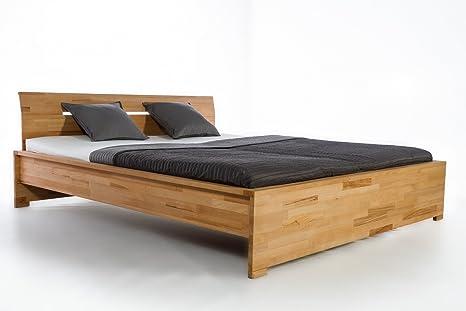 Massivholzbett Firenze Buche Doppelbett Bett Massiv Kerbuche NEU OVP sofort Lieferbar 140 160 180 200 x 200 (180x200)