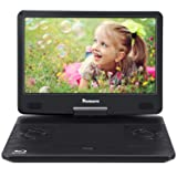 14 Inch Portable Blu-Ray DVD Player for Car Full HD 1080P with HDMI Output and Input, Dolby Audio, 3-Hour Rechargeable Battery, AUX Cable, Support USB and SD (Color: Black, Tamaño: 14 inch portable blu-ray player)