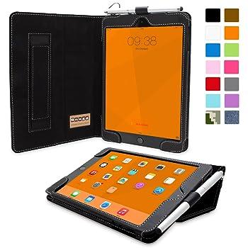 Snugg iPad Mini 4 Case - Smart Cover with Flip Stand & Lifetime Guarantee (Black Leather) for Apple iPad Mini 4