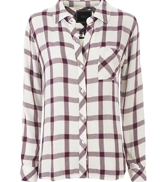 Rails Hunter Plaid Buttondown Shirt in Cream Rose