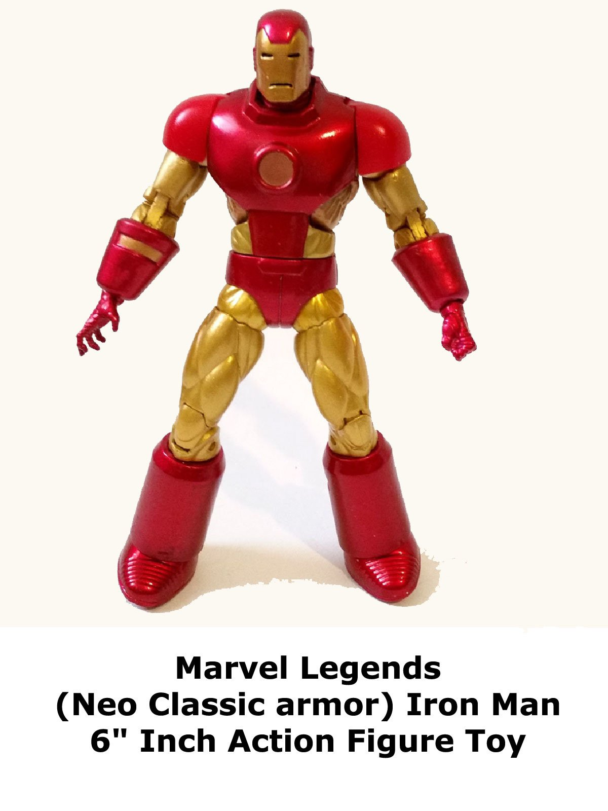 "Review: Marvel Legends (Neo Classic armor) Iron Man 6"" Inch Action Figure Toy"