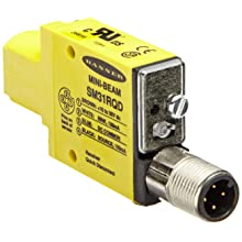 Banner SM31RQD Mini Beam DC Photoelectric Sensor, Opposed Receiver Mode, 4-Pin European QD Termination, 3m Sensing Range
