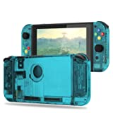 Replacement Housing Shell Case Set for Nintendo Switch Right Left Joy-Con Controller and Switch Console DIY replacement kit for your Switch without Electronics (Set-Ice Blue) (Color: Set-Ice Blue)