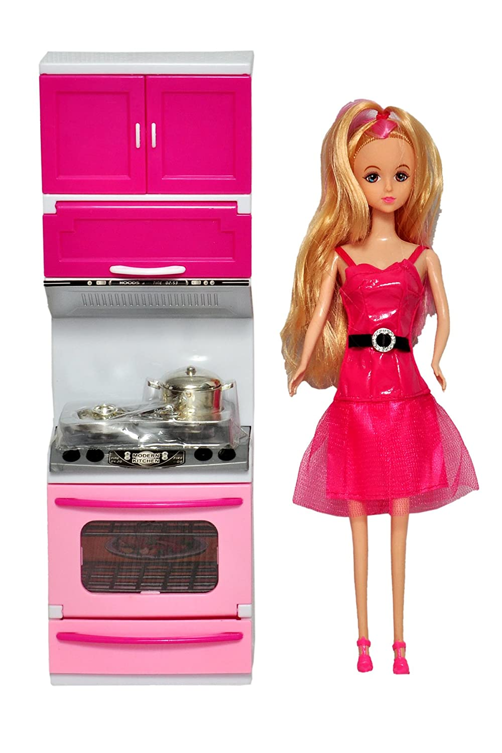 Amazon: Sunshine Battery Operated Modern Kitchen Set with Lights and Sound + Doll @ Rs.499/- (67% OFF)