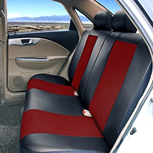 Black #2 Fits Most Car Truck Van SUV Premium Faux Leather Automotive Front and Back Seat Protectors AUTO HIGH 11-Pieces Car Seat Covers Full Set