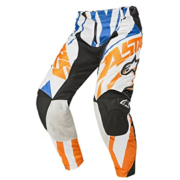 Pantalon Motocross Alpinestars 2015 Techstar Orange-Blanc-Bleu