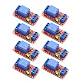 DaFuRui 8Pcs DC 5V 1 Channel Relay Module Board Shield with Optocoupler Support High/Low Level Trigger Compatible for Arduino