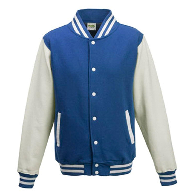 AWDis JUST HOODS Kinder College-Jacke (XL (12-13 Jahre), royal blue / white) jetzt bestellen