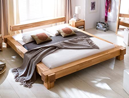 Expendio 44850981 Massivholzbett, Holz, natur, 228 x 218 x 58 cm