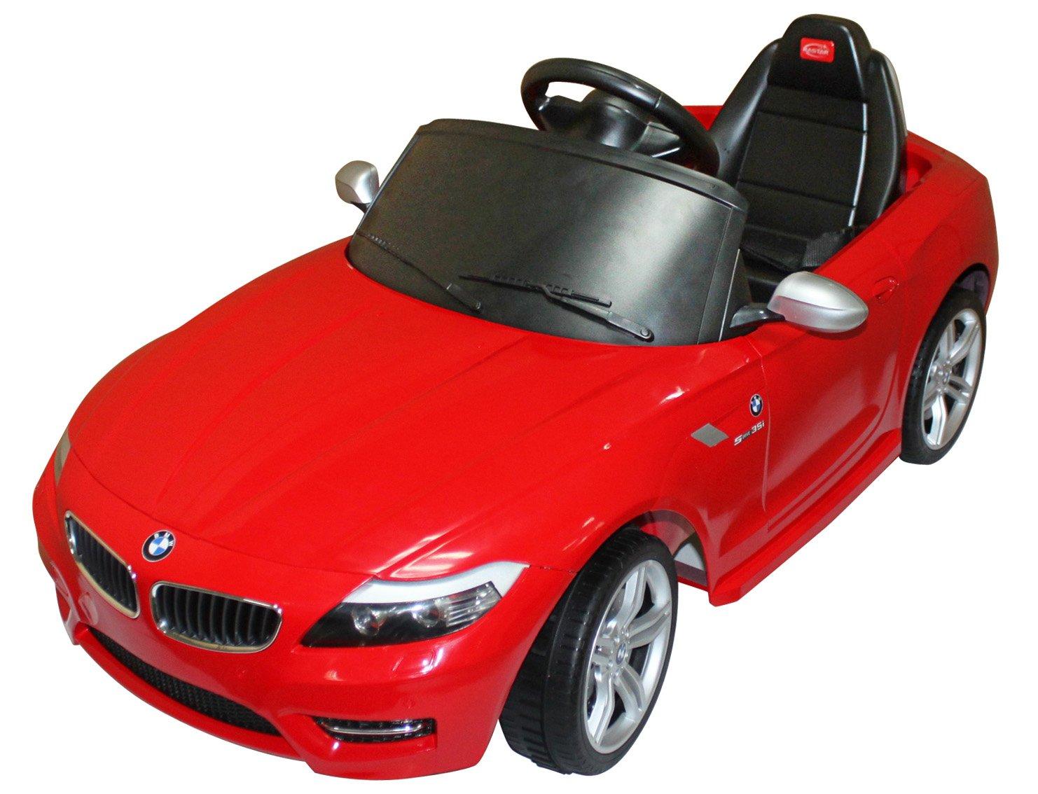 Vroom Rider BMW Z4 Rastar 6V Battery Operated/Remote Controlled Ride-On, Red smoby машинка vroom planet цвет красный желтый