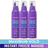 Aussie Mousse, with Jojoba & Sea Kelp, Instant Freeze, 24 Hour Hold, 6 fl oz, Triple Pack (Color: Freeze Mousse (Pack of 3))