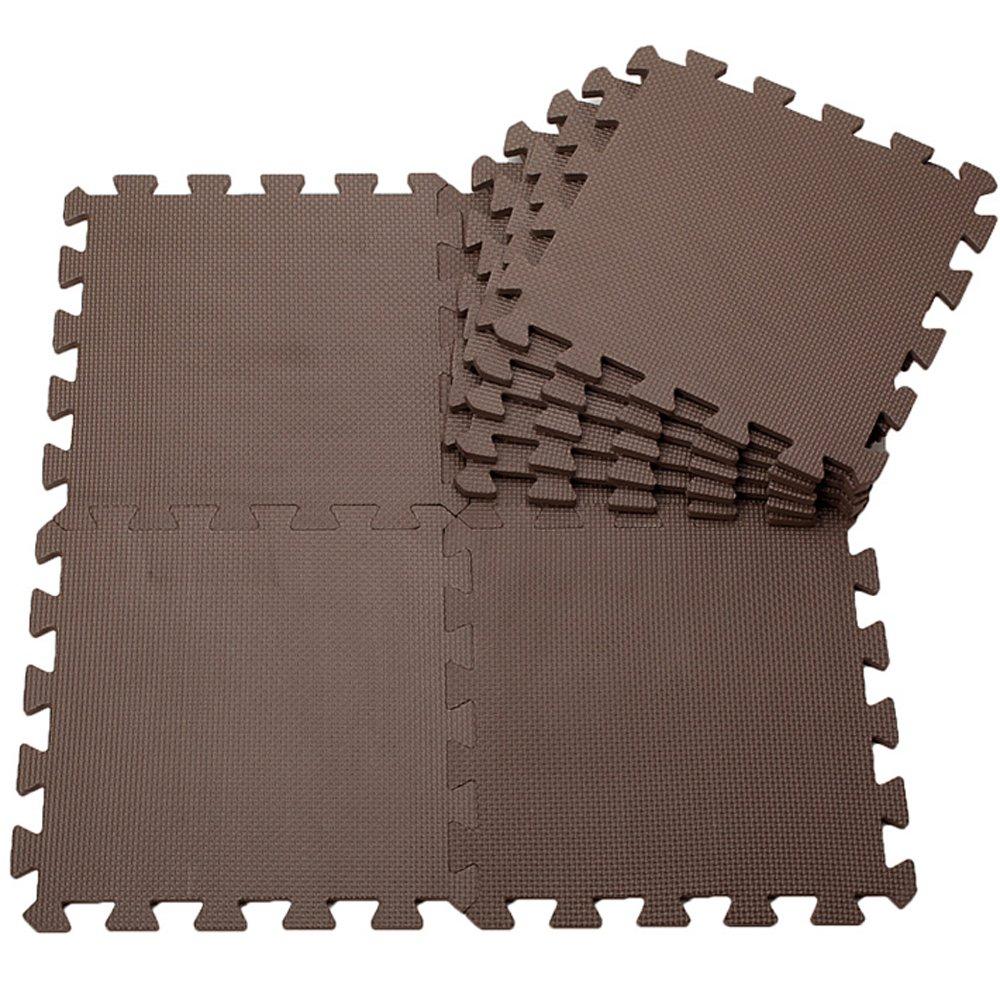 Pure Colour Kids weiche Böden Puzzle Matten für Kinder Jigsaw Mat EVA Schaum Spiel Matte (9ps, Coffee) günstig kaufen