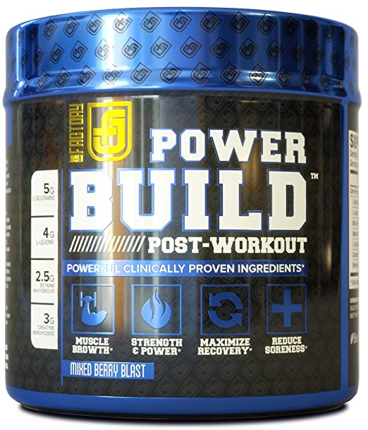 POWERBUILD Clinically-Dosed Post Workout Recovery & Muscle Building Supplement