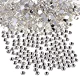 LPBeads Rhinestones for Nails Crafts Nail Art Rhinestones Flatback Glass Gems Stones Beads for Nails Decoration Accessories Crafts Eye Makeup Clothes Shoes (2880PCS Crystal Clear SS12) (Tamaño: 2880PCS Crystal Clear SS12)