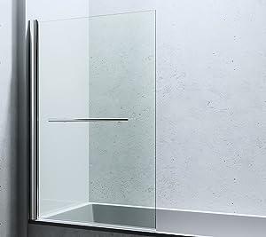 143x94 cm Design Duschabtrennung Cortona1121, 6mm ESGSicherheitsglas Klarglas, inkl. Nanobeschichtung, Badewannenfaltwand,  BaumarktKundenbewertungen