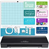 BLACK Silhouette Cameo 3 Limited Edition with Bluetooth, Auto Adjusting Cutting Blades, Vinyl Trimmer, 12x12 Mat, 100, 110v-220v Power Cord, Warranty …