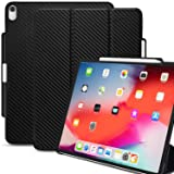 KHOMO iPad Pro 12.9 Inch Case 3rd Generation (Released 2018) with Pen Holder - Dual Carbon Fiber Super Slim Cover - Support Pencil Charging (Color: Carbon Fiber, Tamaño: iPad Pro 12.9 (2018))