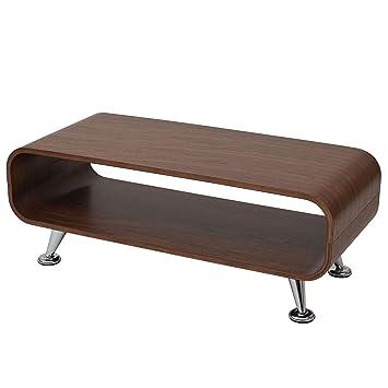 Couchtisch Loungetisch Club Tisch Perugia, 34x90x39cm ~ Walnuss natur
