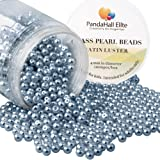 PandaHall Elite 4mm About 1000Pcs Tiny Satin Luster Glass Pearl Round Beads Assortment Lot for Jewelry Making Round Box Kit Dim Gray (Color: Dim Gray-1000 Pcs, Tamaño: 4~4.5mm)
