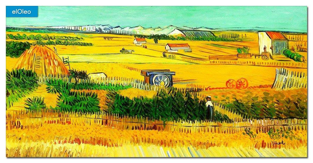 elOleo Vincent van Gogh – Erntelandschaft 60×120 Gemälde auf Leinwand handgemalt 83441A günstig bestellen