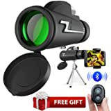 Monocular Telescope,16x50 High Powered Prism Scope Waterproof Monocular with Quick phone Mount Adapter and Tripod,Fogproof Optics FMC BAK4 Prisms, Low Night Vision Focus for Outdoor Like Bird Watching (Color: 16x50)
