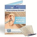 Memory Ear Seed Kit- 120 Vaccaria Ear Seeds, Stainless Steel Tweezer