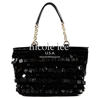Large Black Sequin Shoulder Bag 27