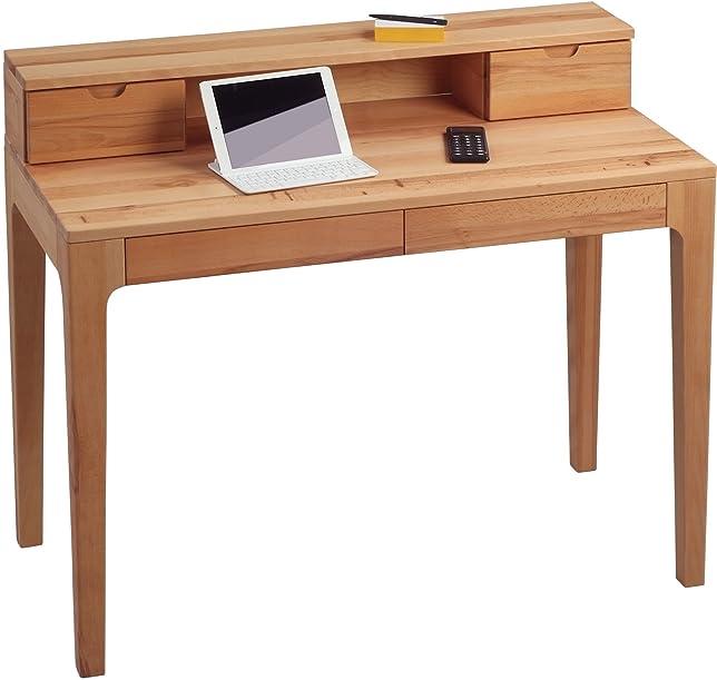 HomeTrends4You 612117scrivania, 110X 76/96x 55cm, in legno di faggio massiccio oliato, con cassetti
