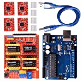 Longruner CNC Shield Expansion Board V3.0 +UNO R3 Board + A4988 Stepper Motor Driver with Heatsink for Arduino Kits